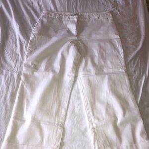 Lined white trousers